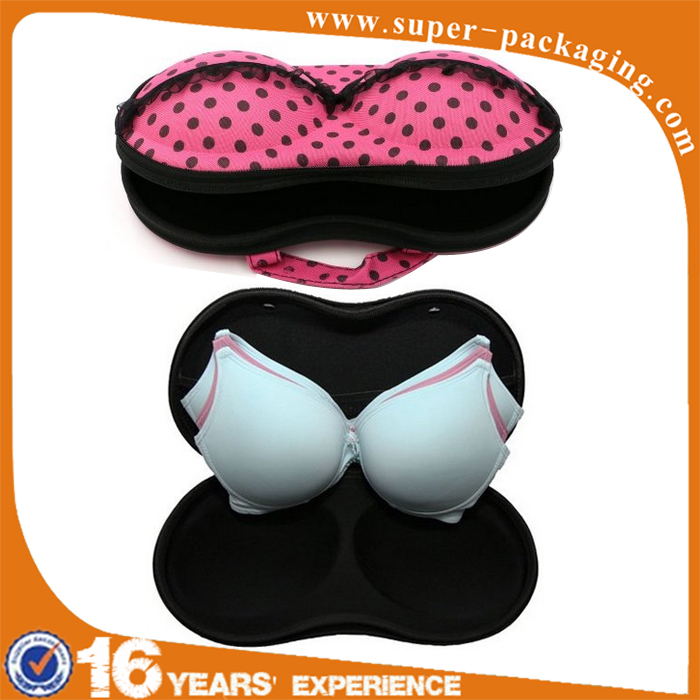 Newest custom EVA large capacity bra storage lingerie bag for travel