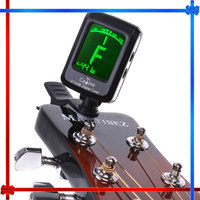 LCD Clip-on Electronic Digital Guitar Chromatic Bass Violin Ukulele Tuner