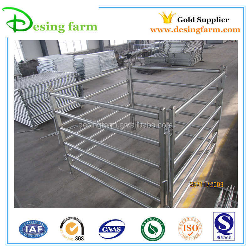 Galvanized heavy duty steel fence panels