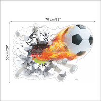 colorcasa 1473 room decor 3d wall sticker wall art decor football