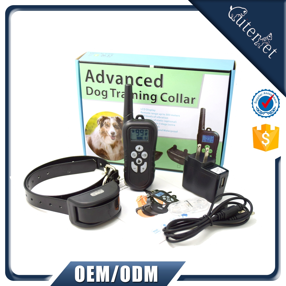 Amazon Top 10 Professional 2 Dog Training Collar Pet Dog Training with Beep Vibrating Electric Shock Collar