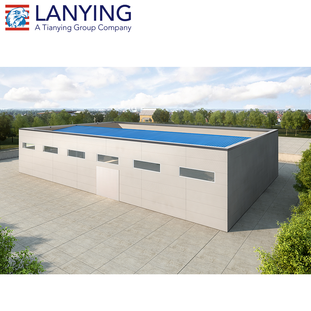 Long lifespan steel structure prefabricated office building