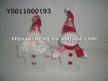 Lovely christmas snowman&santa claus indoor decoration