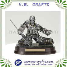 Resin Ice hockey statue