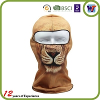 Tiger Hood Face Mask One Hole Motorcycle Balaclava Sports Cap And Hat