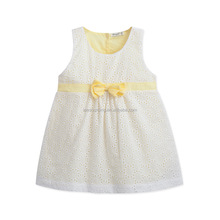Beautiful sleeveless simple design baby girls casual dress