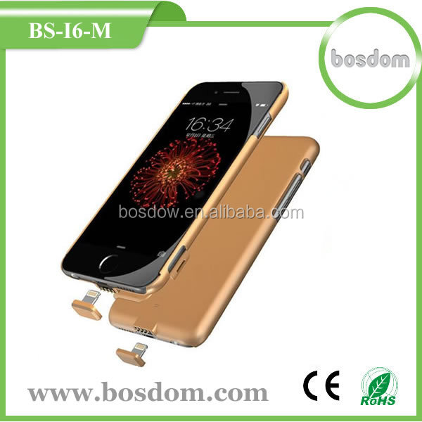 BS-I6-M 1500mAh Ultra Slim Rechargeable Extended Backup External Battery Charger Case for Iphone