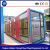 Modern glass prefabricated mobile commercial frame structure high quality steel container house Made in China