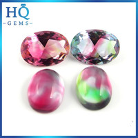 Diamond Cut Decorative Glass Gems Colorful wholesale dichroic glass jewelry