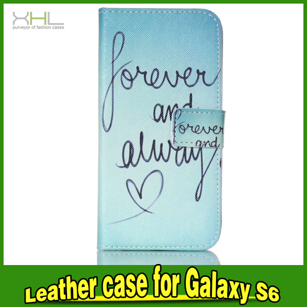 Mobile Phone Color Printing Wallet PU Leather Case Cover For Samsung Galaxy S6
