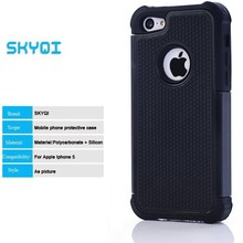 hybrid rugged rubber high impact hard case for apple iphone5