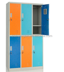 Stainless Hot sell antique small locker Steel military lockers office furniture filling cabinet/6 door wardrobes bedroom