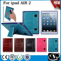 Delicate for iPad Air 2/iPad 4/3/2 Leather Case with Holder and Car Bandage