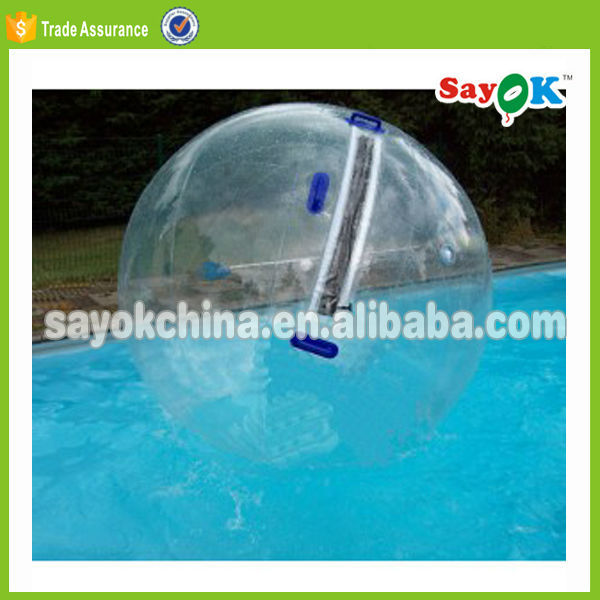 clear inflatable sticky walking water running ball pool vlave with zipper
