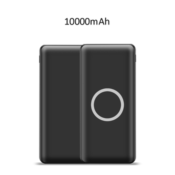 2018 gadget electronic qi fast wireless charger type c power bank 10000mah for mobile phone