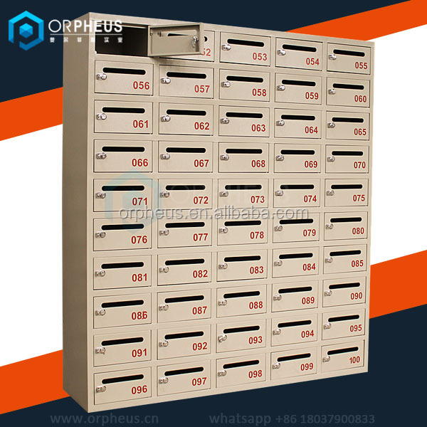 Apartment Type and Wall Mounted Style Stainless Steel Parcel Delivery Post Box