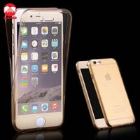 Crystal Clear Soft Transparent 360 Full Protective Rubber Case Cover For iPhone 6 6S Plus
