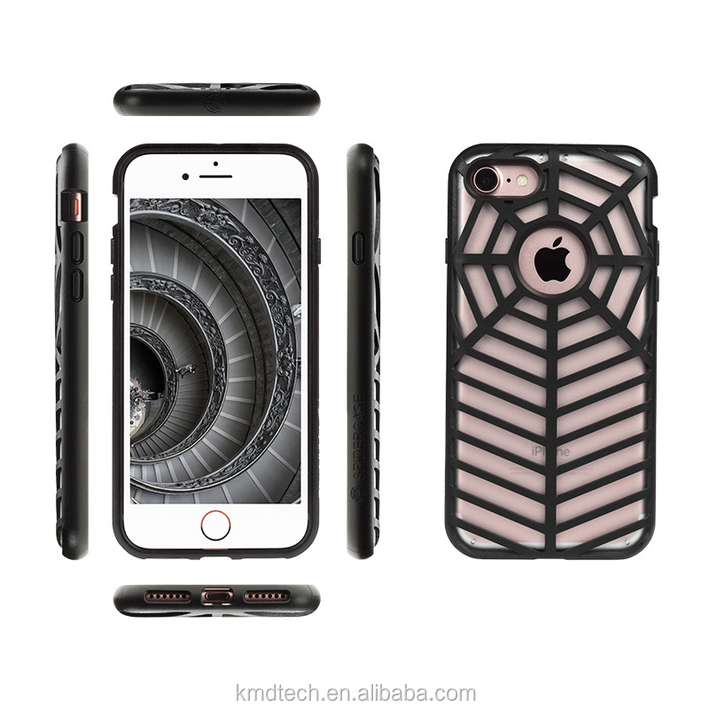 World's First Curved Dropproof Shockproof Spidercase for iPhone 7 with Rubber Bumper withstands 6.6ft on drop test