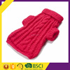 Customized wholesale top quality new design comfortable red color hand kint winter dog clothing
