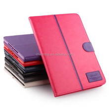Contrast Color Leather Wallet Case For iPad Air 2