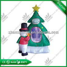 Attractive PVC Inflatable Christmas decoration,inflatable christmas snow globe
