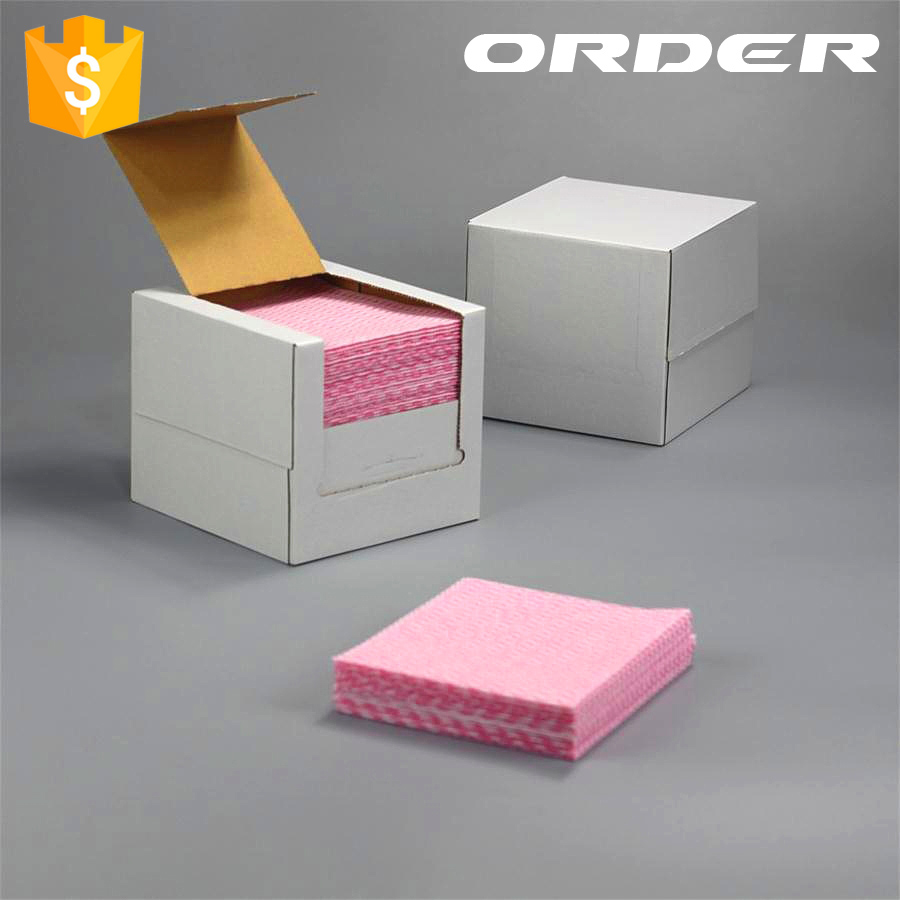 Japanese style colorful disposable wave printing household wipes non woven clean paper OEM in China