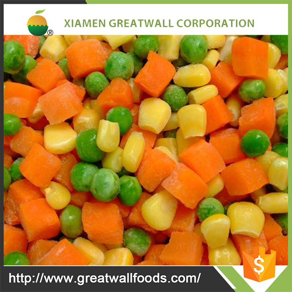 IQF Frozen Mixed Vegetables Contains Carrot and Sweet Corn and Green Peas