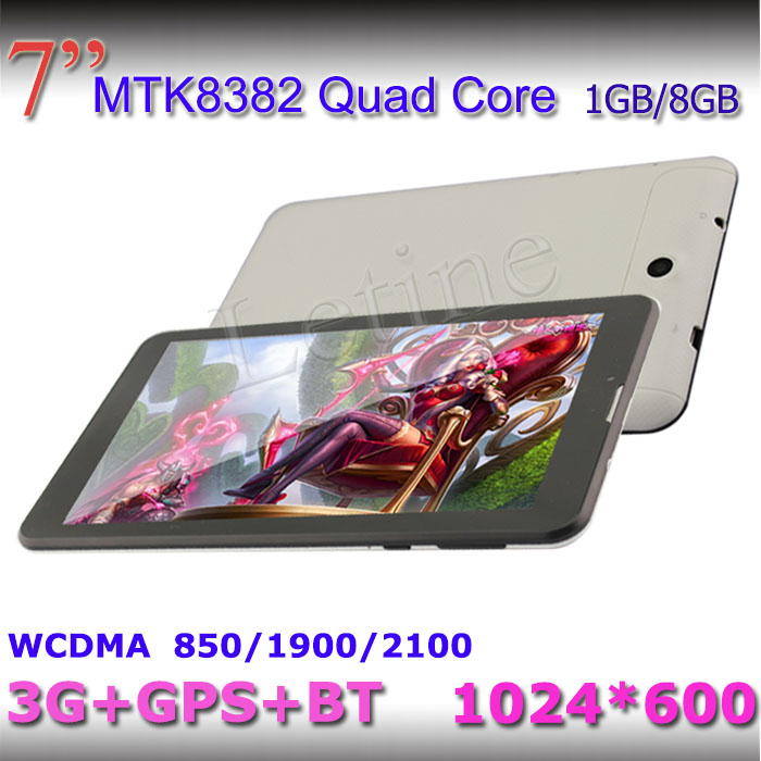 3G MID quad core MTK8382 built-in 3G, GPS, Bluetooth, quad bands optional