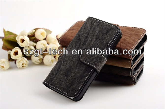 Book style leather case for iphone 5s leather ase, for iphone 5s case