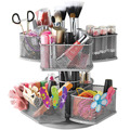 2 Tiers Wire Mesh Cosmetics Carousel