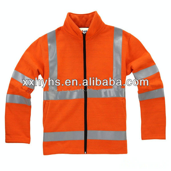 high visibility orange cheap cotton flame retardant reflective clothes for industry