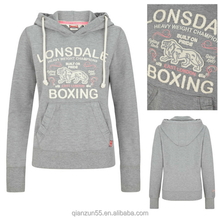 Ladies Hooded Sweatshirt Grey no zipper hoodie jacket hoodie manufacturers cropped top hoodie