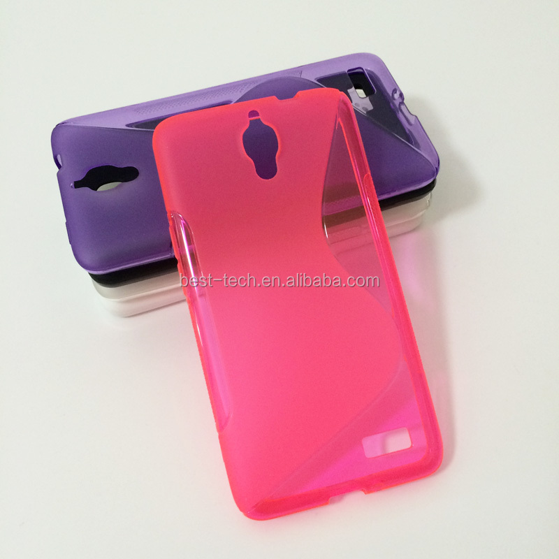 S Line Wave Soft TPU Back Cover Case for Alcatel One Touch Idol 6030A 6030D TCL S820