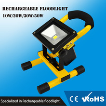 Free Sample portable IP65 outdoor 10w rechargeable led flood light