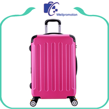 Pink ABS,PC woman hard travel luggage