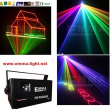 1.5W 1500mW Full Colors RGB DMX ILDA Animation Laser show projector DJ Disco +ishow program