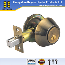 High Security Single Cylinder Deadbolt Lock Antique Brass Finished