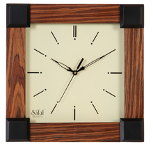 New design Square MDF wood modern wall clock