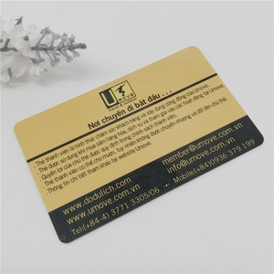UV oil protection sgs approval plastic membership card with embossing numbering