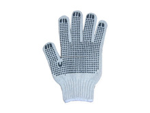 POLYESTER/COTTON SEAMLESS KNITTED GLOVES SINGLE SIDE PVC DOT