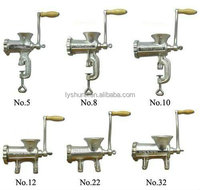 popular home use meat grinder 12#, popular manual meat grinder with tin plated surfac