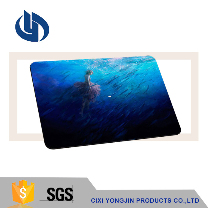 Custom logo vivid print rubber branded brand custom personal cloth mouse pads