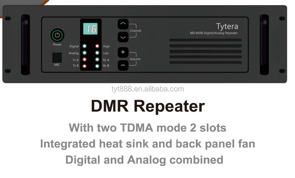 Digital and Analog combined DMR vhf uhf repeater MD-8500 Can work with MOTOROLA radio With 2 TDMA mode 2 slots