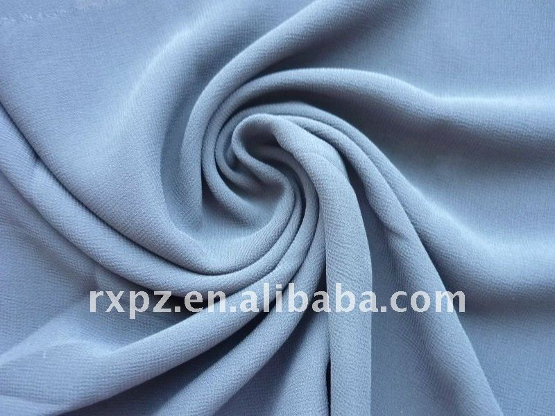 100D Dyed Crinkle Chiffon Fabric With Washing Effect chiffon rosette fabric
