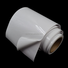 100 mic self adhesive white PVC vinyl film for offset printing