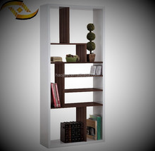 Living room furniture modern bookcase wooden book shelf book rack mdf/melamine panel furniture