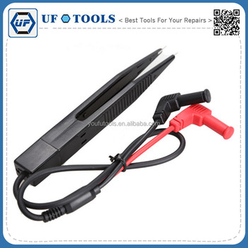 Professional SMD Inductor Test Meter Clip Probe Tweezers for Resistor Capacitor Multimeter