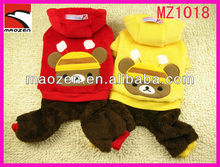 Lovable pet circle bear male and female the unisex look winter plush wholesale dog clothes