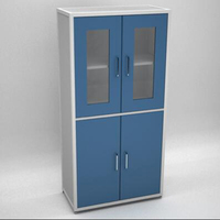 High Quality 5 Layered Double Door Glass Stainless Steel File Cabinet