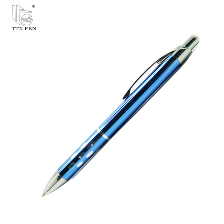 2018 Hot sale push action cheap custom logo ball point pen